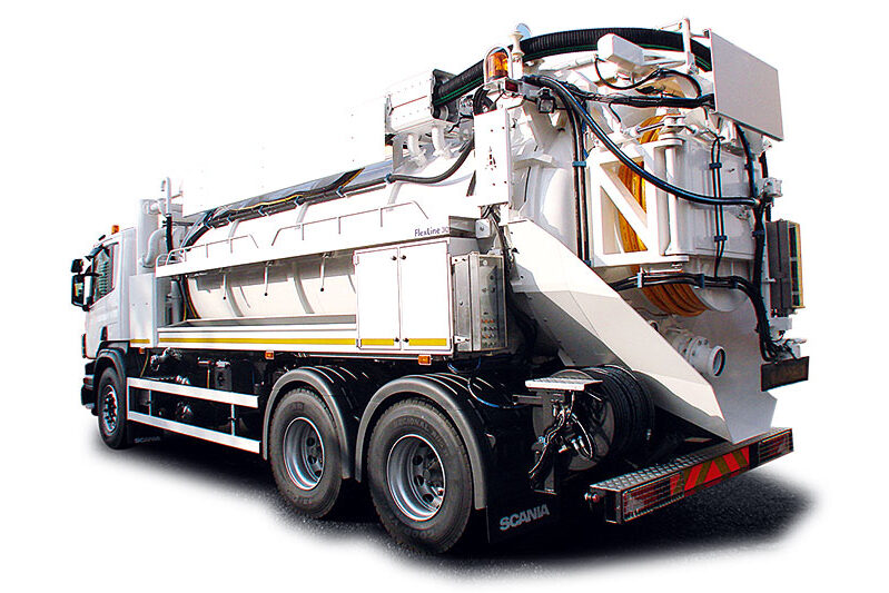 Waste tanker lorry - Exjet Services