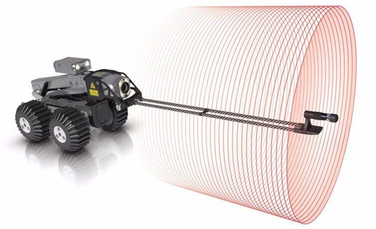 Remote Laser Drain Pipe Probe